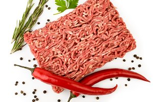 Minced meat with red pepper