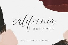 California Dreamer | Font Duo + SVG by  in Script Fonts