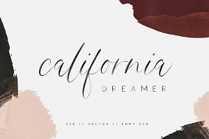 California Dreamer | Font Duo + SVG