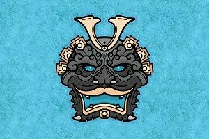 Demon Mask Vector Sticker