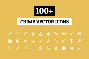 100+ Crime Vector Icons