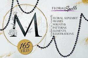 Spells Floral Alphabet and Monogram