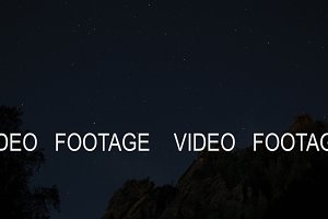 Timelapse of the starry sky above