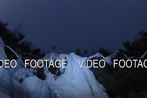 Time lapse of starry sky over the