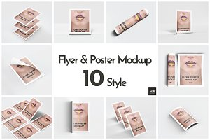 Flyer & Poster Mockup - 10 Style