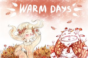 Warm days postcards