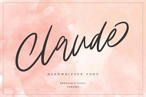 30% OFF | Claude Handwritten Font
