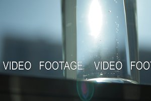 Slow motion shot of bubbles of