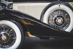 Wheels of a 1936 Mercedes Benz 500K