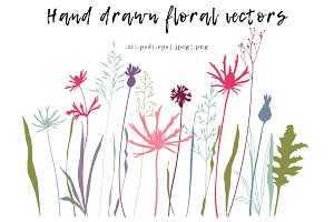 Meadow flowers and plants