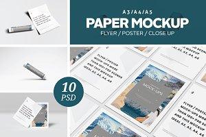 A3 / A4 / A5 Paper Mockup