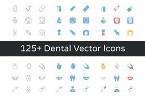 125+ Dental Vector Icons