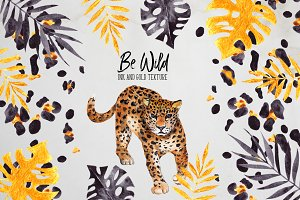 Be Wild. Inky and golden element
