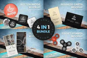 4in1 Mockup Scene Generators Bundle