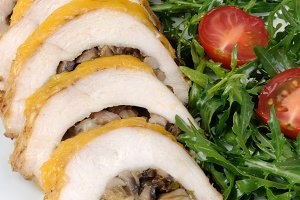 Chicken fillet stuffed with mushroom
