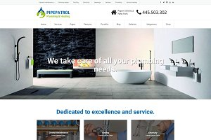 Pipepatrol - Plumber WordPress Theme