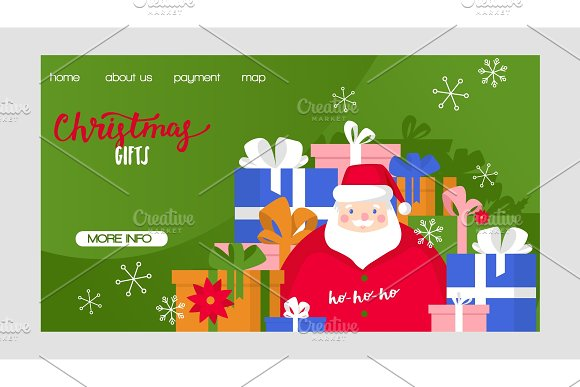 Christmas vector Merry Xmas greeting ~ Graphic Objects ~ Creative Market