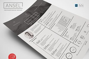 Ansel - Photoshop Resume Template