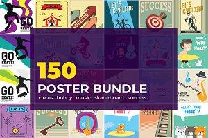 150 Poster Illustration Bundle