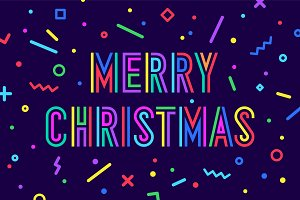 Merry Christmas.. Greeting card with