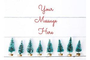 Xmas Tree Line - Stock Photo