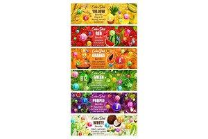 Rainbow color diet, vitamins in food