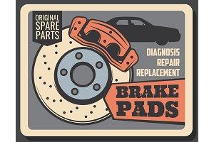 Brake pads, rims and car service