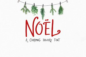 Noel | A Charming Holiday Font