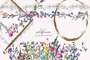 Watercolor Wildflower Clipart