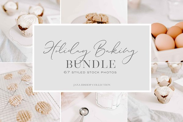 Social Media Templates: TwigyPosts - Holiday Baking | Stock Photo Bundle