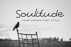Soulitude - Hand drawn style font