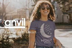 Candid Women's Shirt Mockup (Anvil)