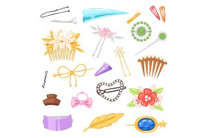 Hair accessory vector hairpin or