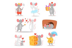 Cartoon mouse vector mousy animal