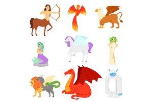 Mythological animal vector mythical
