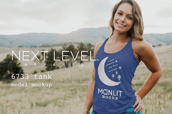 Next Level Racerback Tank Mockup