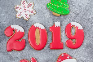 Christmas of New Year 2019 Card Conc