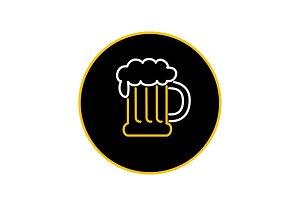 Beer Mug Foam  Neon Sign Icon
