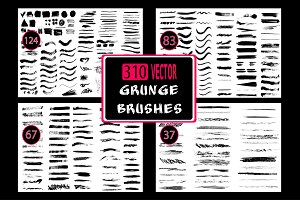 310 Grunge brushes set.
