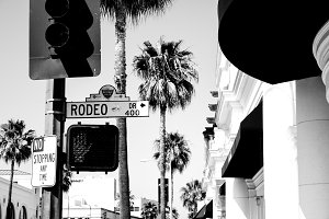 Rodeo Drive in Black and White