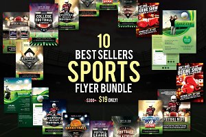 10 Best Sellers Sports Flyer Bundle