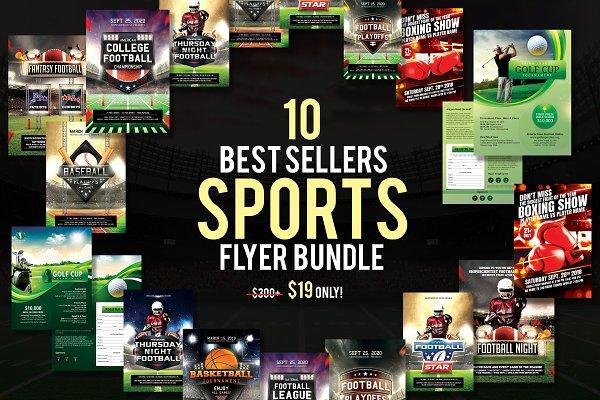 10 Best Sellers Sports Flyer Bundle