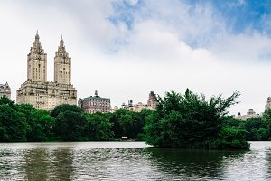 The Lake in Central Park in New York