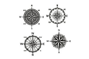 Rose arrows, vector compass