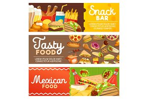 Fast food meals and snacks