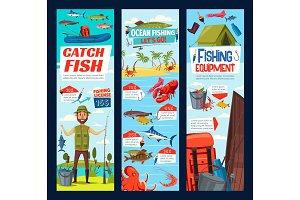 Fishing and fisher catch equipment