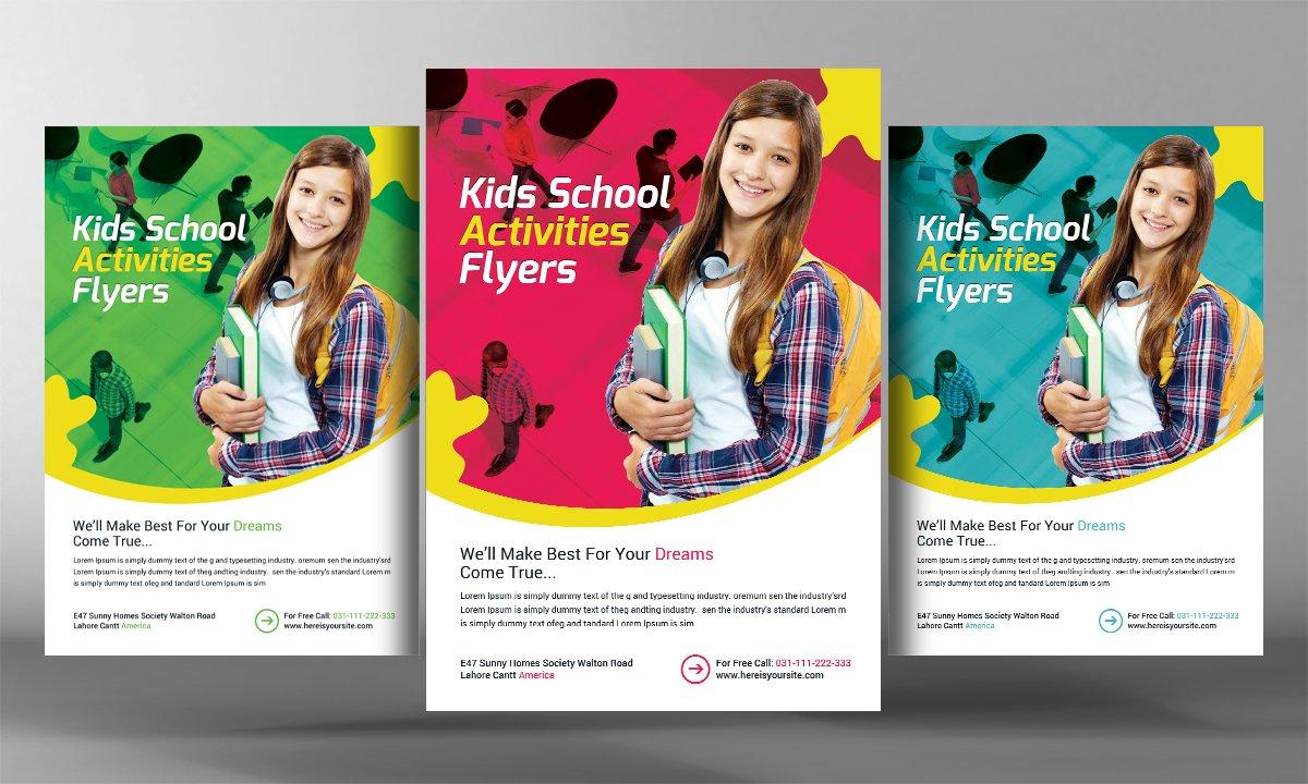 junior school admission flyer flyer templates on creative market