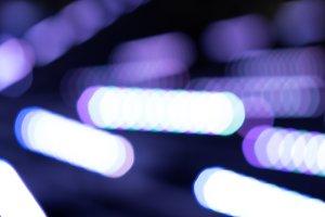 Diagonal neon purple illumination bo