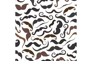 Mustaches retro seamless pattern