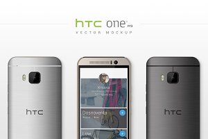HTC One M9 Vector MockUp